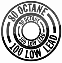 Gas Tank Octane Rating Placards