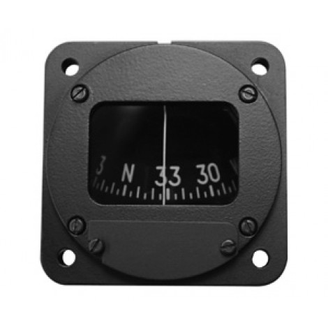 """2-1/4"""" Panel Mount Magnetic Compass (Northern Hemisphere), Unlighted, Non-TSO'd"""