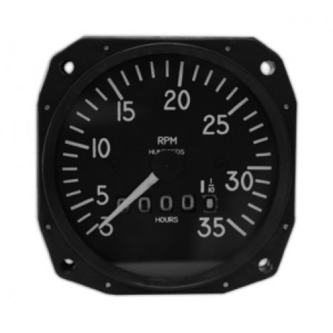 "3-1/8"" Mechanical Tachometers by Mitchell, FAA/TSO'd"