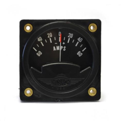 """2-1/4"""" 12-Volt Square Ammeter (Gauge Only)"""