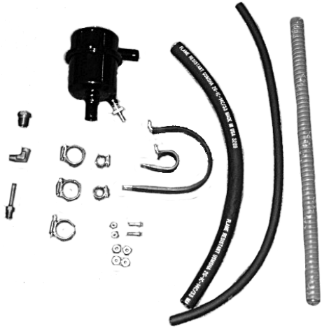 """.62"""" Inlet MiniSep Air/Oil Separator Kit by Airwolf, FAA Approved STC'd"""