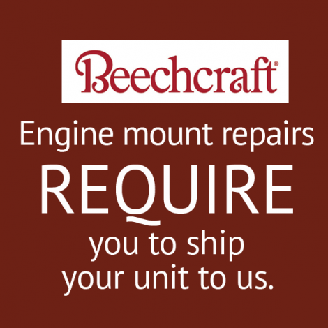 Beech Baron B-58 Engine Mount Repair, OEM 96-910010-67