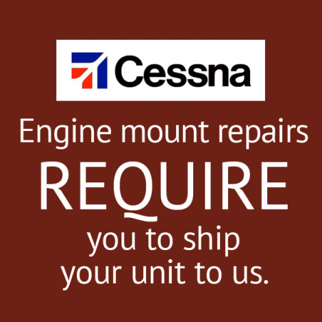 Cessna C-175 Engine Mount Repair