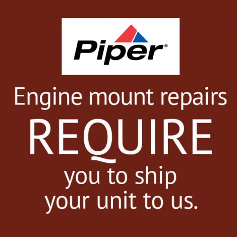 Piper Aztec PA-23-250 Engine Mount Repair