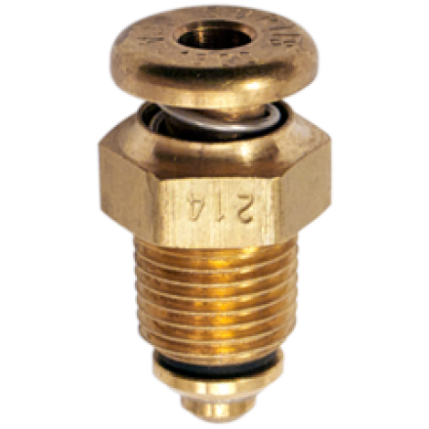 """CCA-1800 Push to Open Non-Locking Fuel Drain Valve 1/8"""" NPT by Curtis, FAA Approved"""
