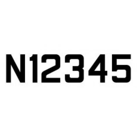 """12"""" Straight """"N"""" Number Pressure Sensitive Vinyl"""