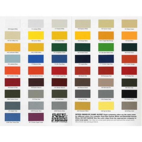 Poly-Tone - Non-White Colors, quart, FAA Approved