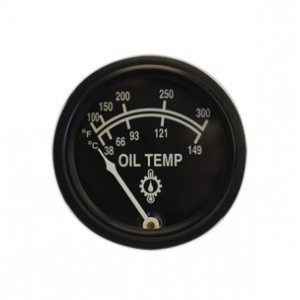 """2 1/16"""" Oil Temperature Gauge by Rochester, 10 ft. capillary"""
