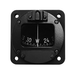 "2-1/4"" Panel Mount Magnetic Compass, Lighted, Non-TSO'd"
