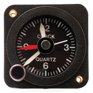 "2-1/4"" 12V Quartz Aircraft Clock, Non-TSO'd"