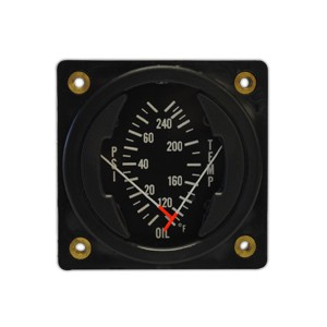 "2 1/4"" Dual Oil Pressure/Temperature Gauge, Non-TSO'd"