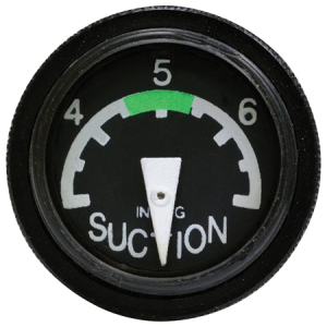 "Mini 1"" Gyro Suction Gauge, Non-FAA/PMA Approved"
