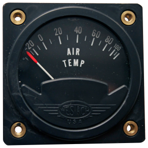 "2-1/4"" Air Temperature Gauge, Non-TSO'd"