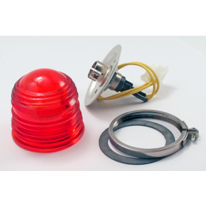 12V Red Replacement Beacon Light by Aero Flash, FAA/PMA'd