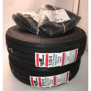 Air Hawk 6.00x6 4-ply Tire Kit, FAA/PMA'd