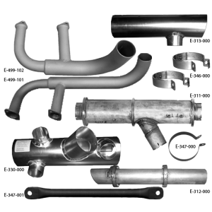 J-3 Style Exhaust System,C-85, C-90-12