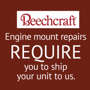 Beech B-55 or B-58 Engine Mount Exchange P/N 96-910010-61, FAA Approved