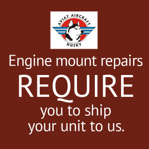 Aviat Husky Engine Mount Repair, FAA Approved