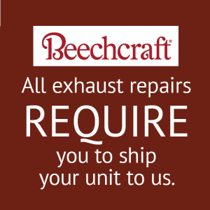 Beech Exhaust Stack, Collector Repair, FAA Approved