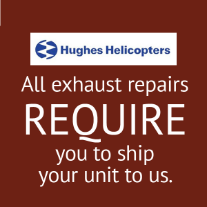 Hughes Helicopter Muffler Repair, FAA Approved