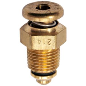 "CCA-1800 Push to Open Non-Locking Fuel Drain Valve 1/8"" NPT by Curtis, FAA Approved"