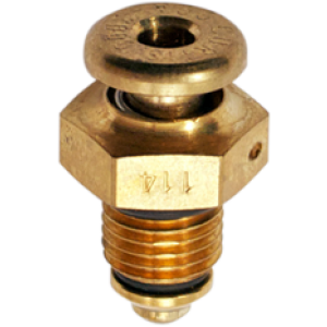 "CCA-2000 Push to Open Non-Locking Fuel Drain Valve 3/8"" 24UNF by Curtis, FAA Approved"