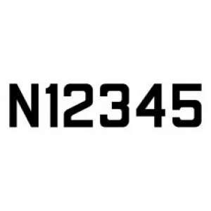 """12"""" Straight """"N"""" Stencil for Metal Aircraft"""