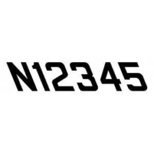"""12"""" Slanted """"N"""" Numbers Pressure Sensitive Vinyl"""