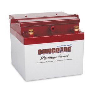 RG-24-15M Concorde Recombinant Gas (RG) Sealed Battery, FAA/PMA'd