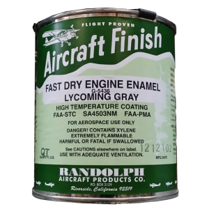 Randolph Engine Enamel (Lycoming gray) G-5436, quart