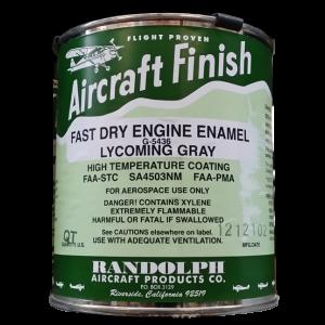 Randolph Engine Enamel (Lycoming gray) G-5436, quart