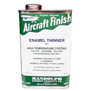 Enamel Thinner 257, quart, FAA Approved