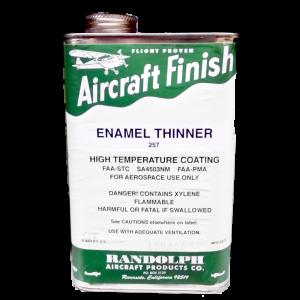 Enamel Thinner 257, quart, FAA Approved