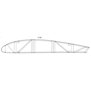 Piper J-3 Aileron Rib (position 6) for Metal Spar Wing, FAA/STC'd