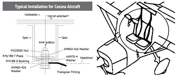 Wag Aero Cessna Kits Seat Belt Harness Kits Seat Belts